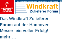 Windkraft Zulieferer Forum /// Hannover Messe 2013